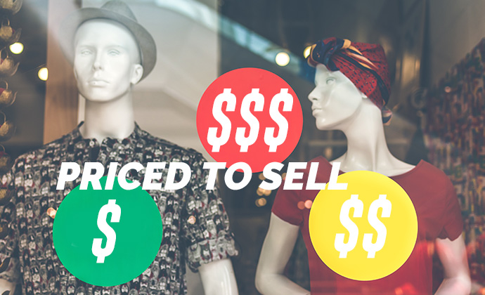 low medium and high pricing tags