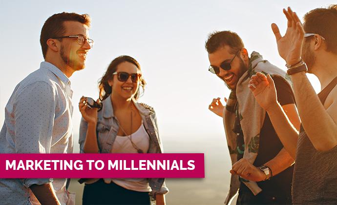 Millennials having fun